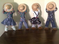 2 sets of hanging Broom dolls great for craft show