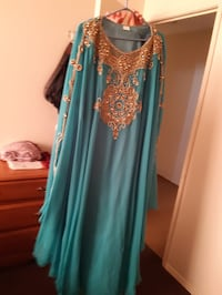 Green women party abaya from Dubia