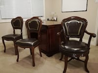 Italian handmade luxury desk and chairs WOODBRIDGE