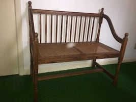 Cane Back Double Sitting Bench