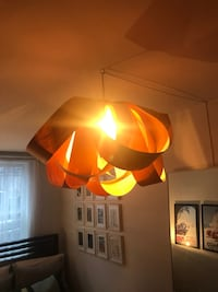 Wood Veneer Pendant Light