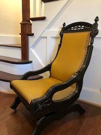 Antique upholstered glider chair on casters Rochester, 14624