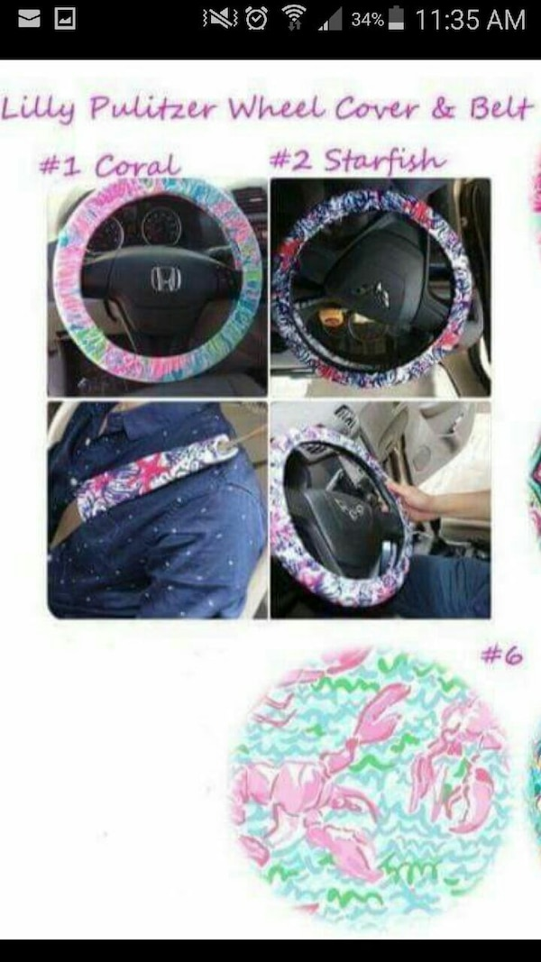 Surprising Lilly Pulitzer Steering Wheel Cover Seat Belt Bo Alphanode Cool Chair Designs And Ideas Alphanodeonline
