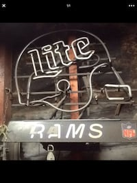 Los Angeles Rams Miller Lite Neon Sign not working La Habra, 90631