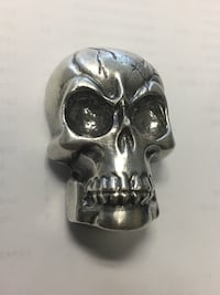 Custom made 5 oz .999 silver skull Surrey, V3Z
