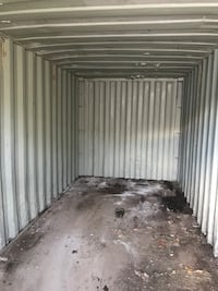 red dry truck trailer