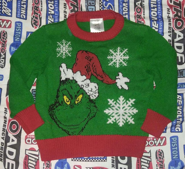 The Grinch Christmas Sweater.Boys 2t Grinch Christmas Sweater