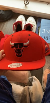red and white Chicago Bulls cap Tampa, 33625