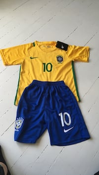Brasil landslagsdrakt og shorts for barn Oslo, 0657