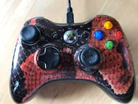Xbox 360 wireless scuf controller with trigger stops, grip and charger