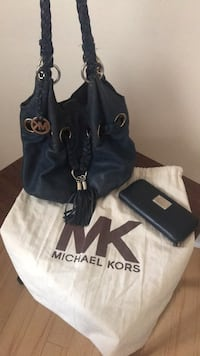 Navy Blue MK Hobo bag & wallet