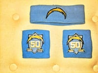 Chargers 50 th year headband and wristbands San Diego, 92109