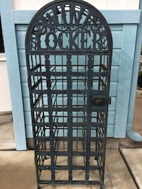Vintage wrought iron wine locker 2239 mi
