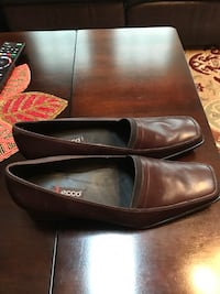 New. Ecco Brown leather dress shoes Vienna, 22182