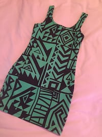 black and green sleeveless dress Lethbridge, T1H 4A4