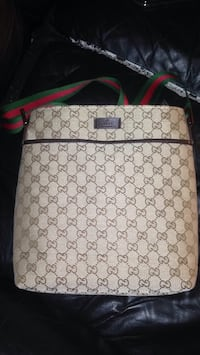 white and gray Gucci leather backpack Saskatoon, S7L 7E1