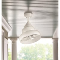 Home Decorators Collection Novak 14 in. Indoor/Outdoor White Oscillating Ceiling Fan Dallas