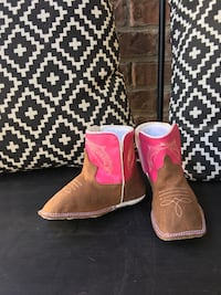 pair of brown leather cowboy boots Leander, 78628