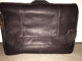Brown leather laptop bag / briefcase