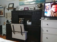 Ikea Desk with Hutch (black-brown) Silver Spring, 20903