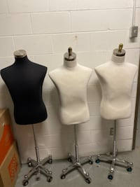 4 Body forms with metal base.