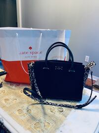 New authentic katespade black bag with cheeta print with tag big size  Mississauga, L5V 1R4