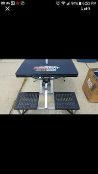 Nascar Coors Light stow n go picnic tailgate table