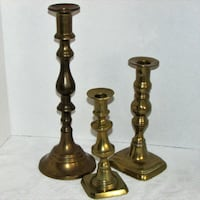 Chic & Shabby Mismatched Brass Candle Holders see  Mississauga