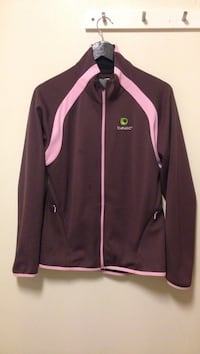 brun og rosa zip-up jakke