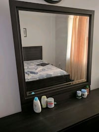 brown wooden cabinet with mirror 1306 km