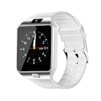 silver aluminum case Apple Watch with white sports band Surrey, V3T
