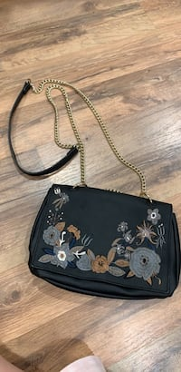 black and brown floral leather crossbody bag Omaha, 68144