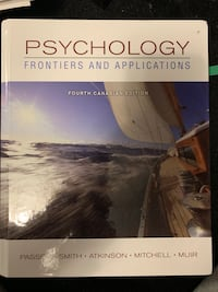 Psychology Frontiers and Applications TEXTBOOK NO MARKINGS Toronto, M5K 2A1