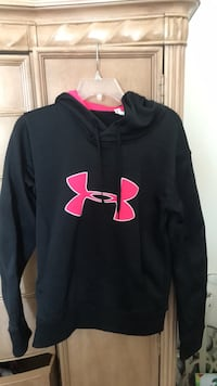 black and pink Under Armour pullover hoodie Carolina Beach, 28428