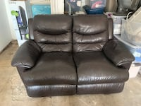 Brown leather 2-seat sofa  Los Angeles, 90063