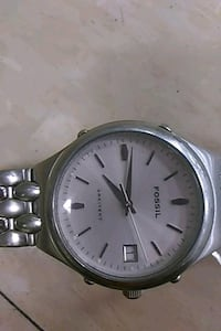 round silver-colored analog watch with link bracel Nashville, 37214