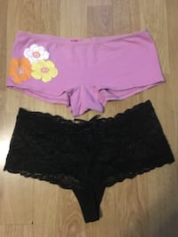 Boy shorts never worn size small