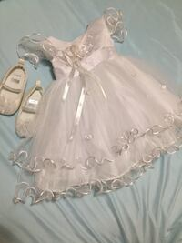 Baby white gown for christening
