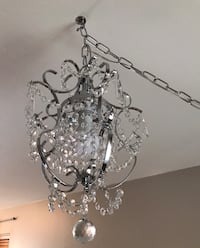 silver and white uplight chandelier Woodbine, 21797