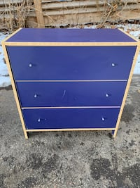 Blue IKEA three drawer dresser