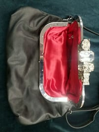 red and white leather crossbody bag Vancouver, V6Z 1R3