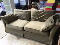 Two Seat (Reg Size) Olive Green Sofa