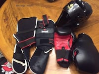 Sparring Gear age 10-14 for tae Kwan D/karate