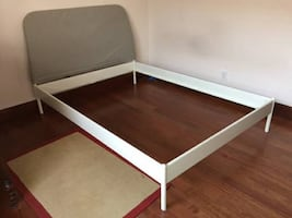 IKEA full bed frame, with mattress