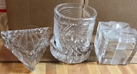 Three Vintage Crystal Covered Container New Carrollton, 20784