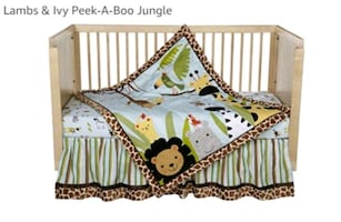 Lambs and Ivy COMPLETE bedding/nursery set