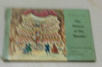 History Of Theater HB Book Vintage 1964