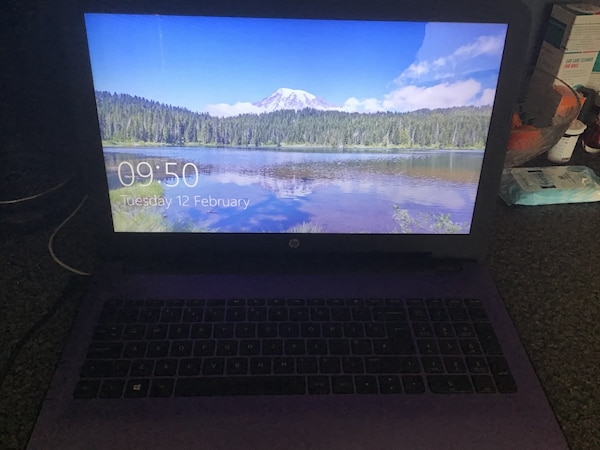 HP laptop , in purple. Good working order , windows 10, widescreen,with carry case etc selling Due to upgrade good condition