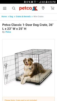 Foldable dog crate Glenshaw