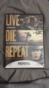 Live Die Repeat DVD case Franklin, 16323